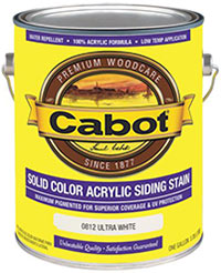 Cabot Solid Color Acrylic Siding Stain