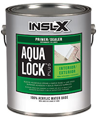 A can of Insl-X Aqua Lock Plus paint & primer