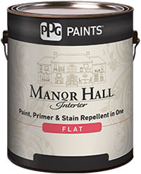 PPG Manor Hall interior paint, primer & stain repellent