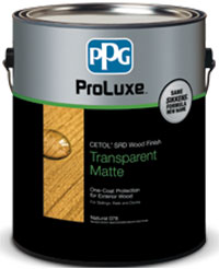 PPG ProLuxe Cetol SRD Wood Finish