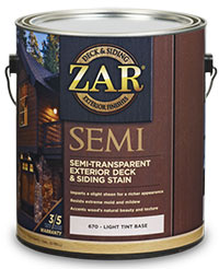 Zar Semi-Transparent Exterior Deck & Siding Stain