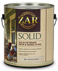Zar Solid Exterior Deck & Siding Stain